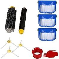 Hmeng Kit di sostituzione per iRobot Roomba 600 610 620 630 650 serie, Aspirapolvere Kit accessori di ricambio(con vite supplementare)