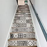 LIZHIOO Treppenaufkleber (100 * 18cm) 13pcs Kreative DIY 3D treppenaufkleber Wasserfall Muster für Dekoration von treppen Hause wandaufkleber große treppe R