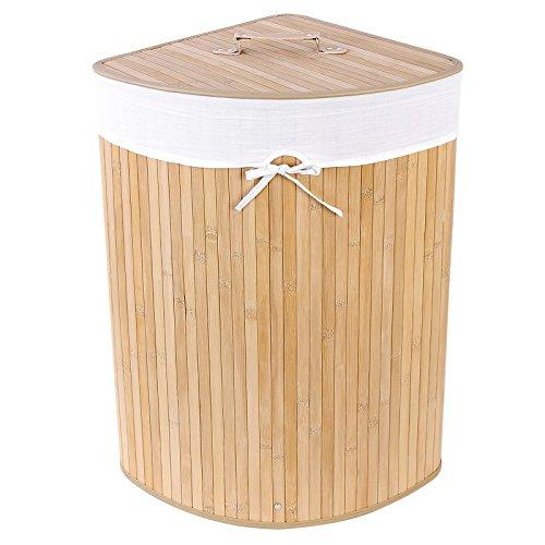 Songmics Bambus Wäschekorb, 58 Liter