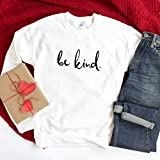 Be kind jumper/Unisex size/Positivity- Kindness- Anti-Bullying top/Vegan/Vegetarian sweatshirt/Veggie t-shirt