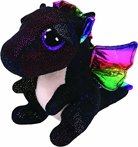 Ty- Anora, Drache Schwarz 24cm Peluche dragón, Color Negro (United Labels Ibérica 37268TY)