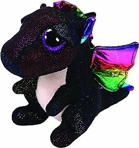 Ty- Anora, Drache Schwarz 24cm Peluche dragón, Color Negro (United Labels Ibérica 37268TY)