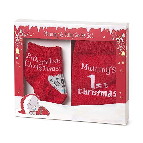 Me to You Tiny Tatty Teddy Baby's First Christmas Maman et bébé Chaussettes Ensemble cadeau