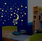 ODJOY-FAN Casa dei Cartoni Animati Decalcomanie Decor Glow in The Dark Adesivo Baby Kid Room DIY Rimovibile Stick Windows per la cameretta Bambini Salotto Camera plafoniera Fluorescente