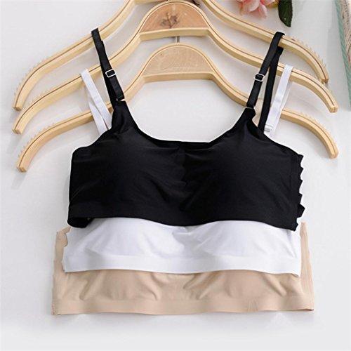 Sous-vêtements pour femmes,Tonwalk Sling Sports sans couture Soutien-gorge Gym hauts écourtés Noir