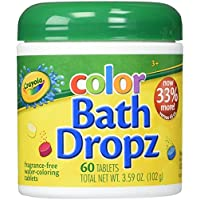Crayola Color Bath Dropz 60 Tablets 3.59 Ounce Jar