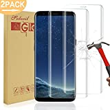 [2 Pack] Galaxy S8 Screen Protector,Solocil 3D-Curved Full Cover Tempered Glass Screen Protector for Samsung Galaxy S8,Anti-Fingerprint Bubble Free HD Screen Protector Film