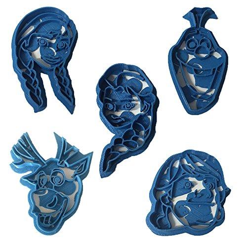 Cuticuter Frozen pack Ausstechform, Blau, 16x 14x 1.5cm, 5Stück