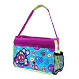 Cool Gear Bling Bag Insulated Lunch Bag with EVA Lining and Water Bottle Pocket (Blue Peace)