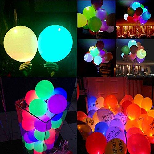 WEISLI Globos LED 25pcs Luz Intermitente Globo de Color Mezclado para Halloween La Fiesta de cumpleaños de Navidad Festival de Boda (25pcs)
