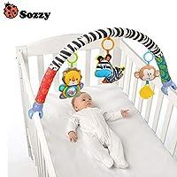 lzn Newborn Crib Bed Hanging Bell/Rattles Toys Plush Lion/Monkey/Zebra Animal Clip Infant Baby Dolls For 0-2 Years Kids