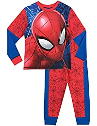 Spider-Man Boys Spiderman Pyjamas Full Face Ages 2 to 10 Years