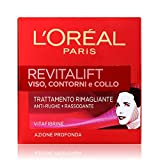 L'Oréal Paris Revitalift Crema Viso Antirughe Contorno e Collo Rimagliante Anti-Rughe e Rassodante, con Pro-Retinolo Avanzato,  50 ml