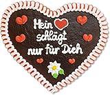 Lebkuchenherz - 32cm - Mein Herz schlägt nur für Dich - Die perfekte Liebesbotschaft für Freund und Freundin