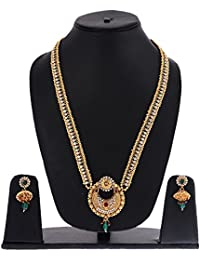 Zeneme Modern Style Long Necklace Set/Jewellery Set With Earrings For Women