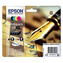 Epson C13T16364012 Inkjet Cartridge- 4 color Multipack, Amazon Dash Replenishment Ready