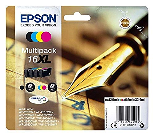 Epson 16 Serie Penna, Cartuccia Originale Getto d'Inchiostro DURABrite Ultra, Formato Standard, Giallo, con Amazon Dash Replenishment Ready