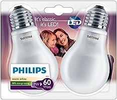 Philips - 8718696472224 - Lot de 2 Ampoule LED Standard Culot E27 - 7W Consommés - Équivalence Incandescence 60W