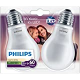 Philips LED light bulb Standard screw E27 - 2-Light Bulbs 7 W Consumption-Incandescent Equivalent 60W