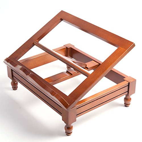 Wooden book-stand with flutings