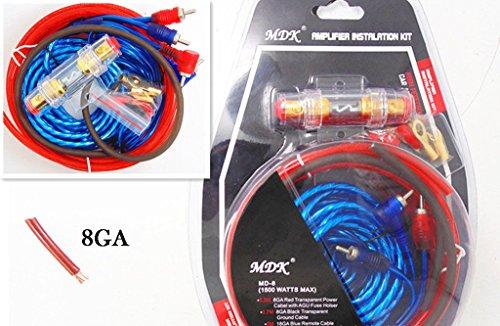 Auto audio Subwoofer amplificatore 1500W 8GA Amp cablaggio portafusibili cavo kit cavi
