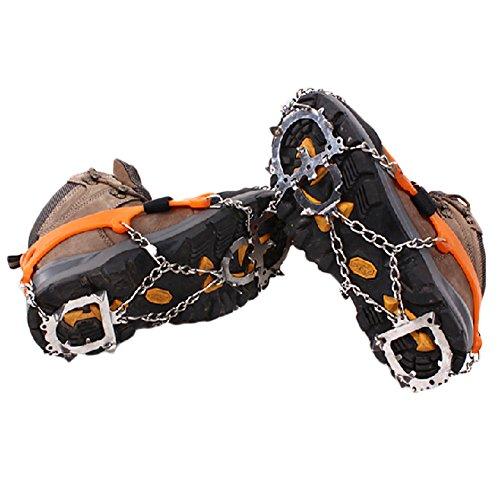 12Pics d'hiver de traction Pro Grips Paire de chaussures à crampons antidérapants pour neige et glace