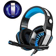 Casque Gaming PS4, Beexcellent Casque Xbox One 3.5mm Micro Premium Anti-bruit Audio Stéréo Basse Avec LED Lumière Jeux Vidéo Gaming Parfait Pour PC Laptop Tablette et Téléphones Mobiles