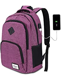 Augur Business Laptop Backpack (12 Colors),35L Anti Theft Backpack with USB Charging Port for Women Men School Rucksack Computer Backpack Waterproof Daypack for 15.6 inch Laptop