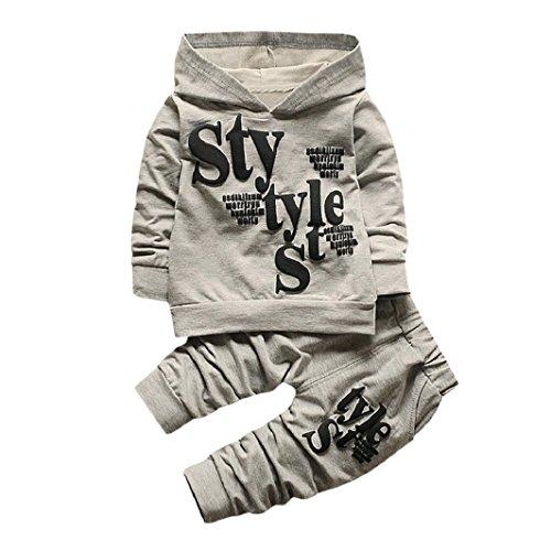 Sisit Hoodie confortable et épais + pantalon de jogging pour les bébés et les enfants de 0-5 ans. 2 peices de tenue pour cet hiver froid. élégant et mignon pour votre bébé (4-5 ANs, Gris)