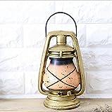 SU@DA Americano rústico vintage/decoración/keroseno/tiendas/restaurantes/casa mobiliario/decoraciones/alcancía/2pcs , e31-xz026- golden lantern