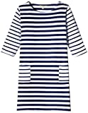 Chemistry Girl Dress (GA15-055KMDRSSLD_Navy Blue and White_7 - 8 years)