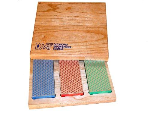 DMT Diamant-Schärfstein in Box aus Hartholz, 15,2 cm / 6 Zoll, Set mit 3 Schärfsteinen in 3 Körnungen, W6EFC Edge Pro Sharpener