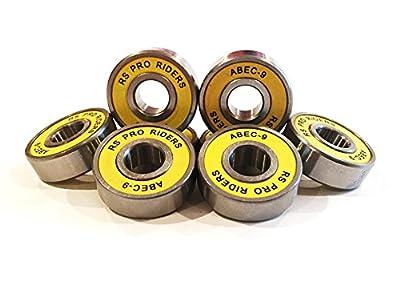 8x Gelbe ABEC 9608(8x 22x 7mm) RS PRO Riders Skateboard-Kugellager