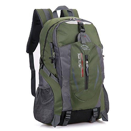 Zcl leggero zaino da escursionismo, 30l impermeabile in nylon Day Pack?Campeggio Rock climbing Travel Backpacking, unisex, Black Army green