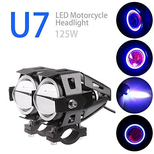 TiooDre 2PCS U7 CREE Auto Moto del faro del LED CREE U7 LED della nebbia della lampada frontale della luce del punto DRL Spotlight Luci diurne a Circle