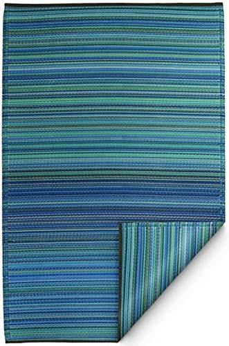 Fab Hab - Cancun - Türkis & Moosgrün - Teppich/ Matte für den Innen- und Außenbereich (120 cm x 180 cm)