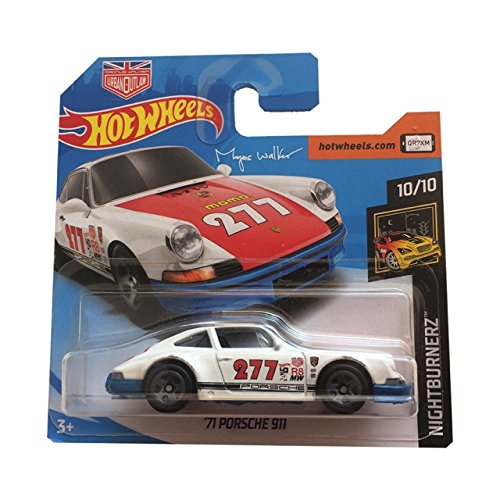 Hot Wheels 71 Porsche 911 - Night Burnerz 10/10-2018 Carta Corta