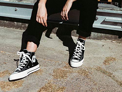 Chuck Taylor Sportschuhe (Converse Unisex-Erwachsene Taylor Chuck 70 Hi Sneakers, Schwarz Black/Egret 001, 43 EU)