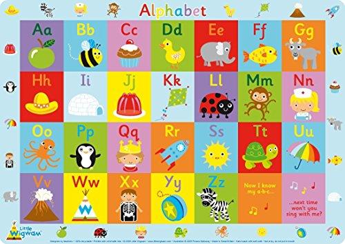 Little Wigwam - Alphabet ABC Platzdeckchen Platzset Tischset Für Kinder (Englisch)