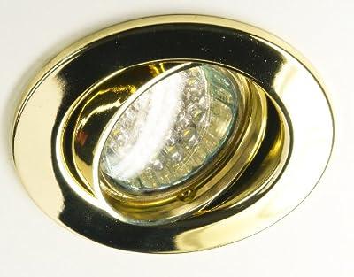 Einbaustrahler Deckenleuchte Strahler Agena gold mit GU5,3 Keramikfassung für den 12V Betrieb, ohne Leuchtmittel