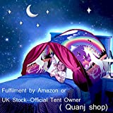 Kids Bed Tent Unicorn Fantasy Pop up Play Tents Princess Castle Magic Playhouse Girls Birthday Gift Bedroom Decoration