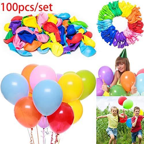 Mitlfuny -> Haus & Garten -> Küche,100 stücke 12 Zoll Luftballons Geburtstag Hochzeit Grad Partei farbig ()
