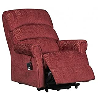The Augusta - Dual Motor Riser Recliner Mobility Chair in Soft Fabric Finish - Choice of Terracotta or Cream (Terracotta)