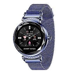 HNLZGL H2 Smart Uhr Frauen Herzfrequenz Blutdruck Schlaf Monitor Smart Uhr, Blau