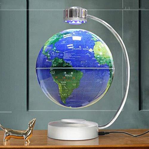 Schwimmende Globen Sphere Map Magnetic Levitation Globe mit Lichtern hängenden Globus Home Crafts Ornamente Geographie Lehre Wohnzimmer - 8 Zoll