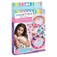 Make It Real - Bedazzled! Charm Bracelets - Blooming Creativity. DIY Charm Bracelet Making Kit for Girls. Arts and Crafts Kit to Create Unique Tween Bracelets with Beads, Charms & Tattoo Stickers
