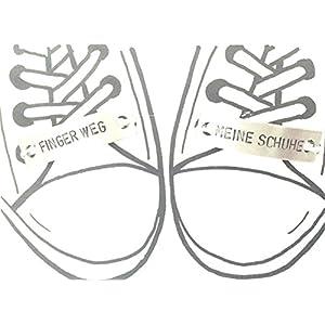 1 Paar Schnürsenkel Charm FINGER WEG - MEINE SCHUHE Schuh Tag