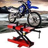 Ponte sollevatore moto, Sollevatore a Forbice per Moto, Sollevatore Regolabile in Altezza, supporto di montaggio e sollevamento capacità max. 500 kg.