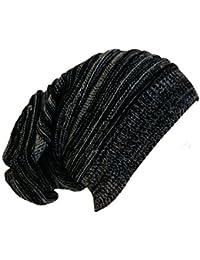 Best Long Beanie in grau schwarz Strick Mütze Slouch Cap Oversized Unisex Strickmütze Trendy Hipster