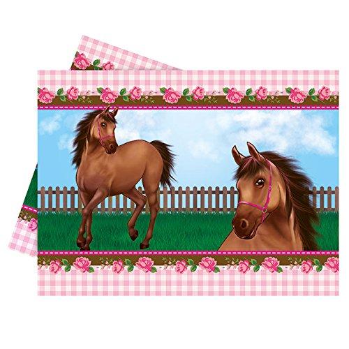 NEU Tischdecke Pferdetraum, 120x180 cm (Prinzessin Reiten Pferd Kostüm)
